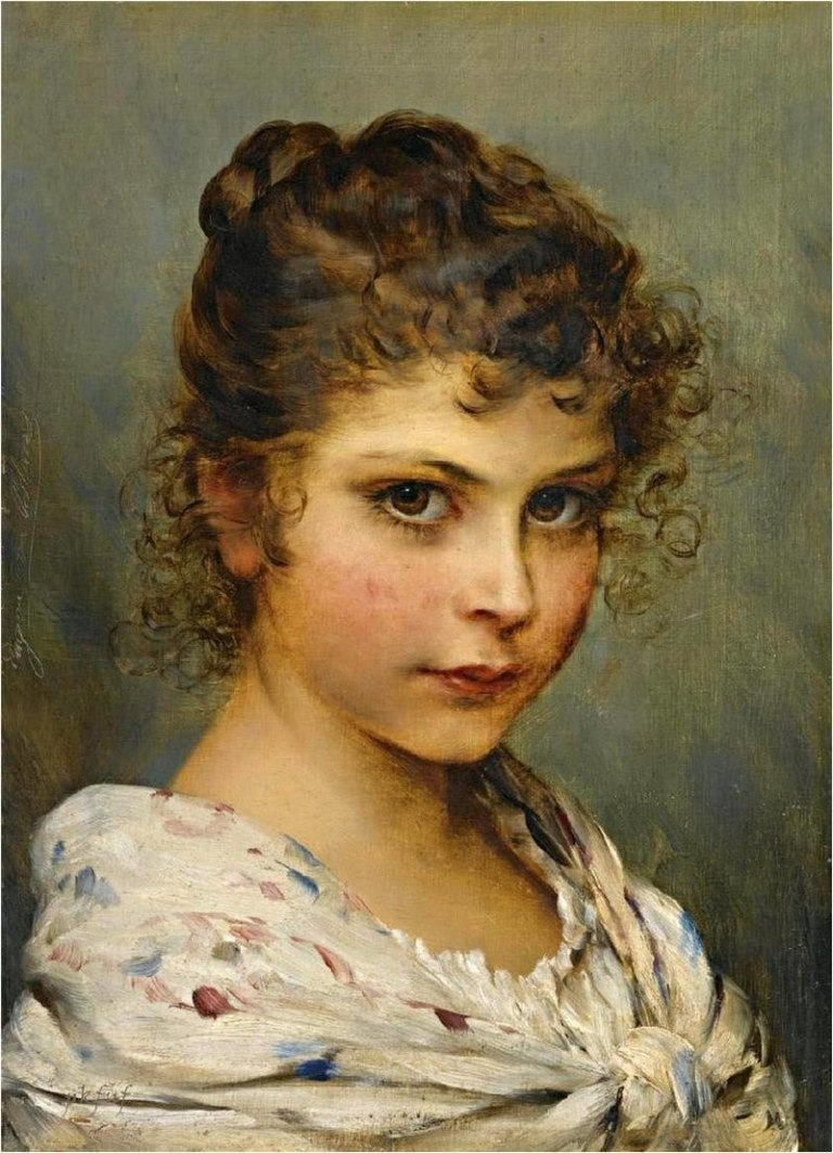 800px-Young_girl_with_curly_hair_-_Eugen_von_Blaas