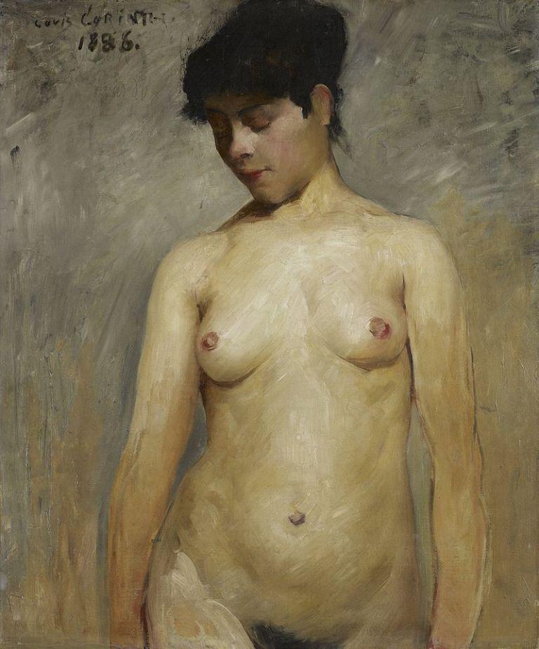 Lovis_Corinth_-_Mädchenakt_(1886)