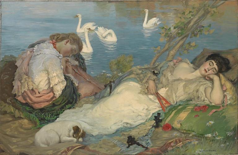 Rupert_Bunny,_1904_-_Endormies