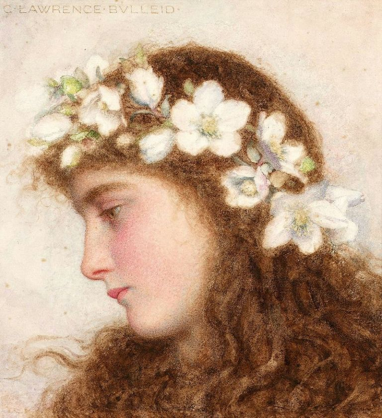 George_Lawrence_Bulleid_-_A_girl_wearing_a_garland-of_wild_roses
