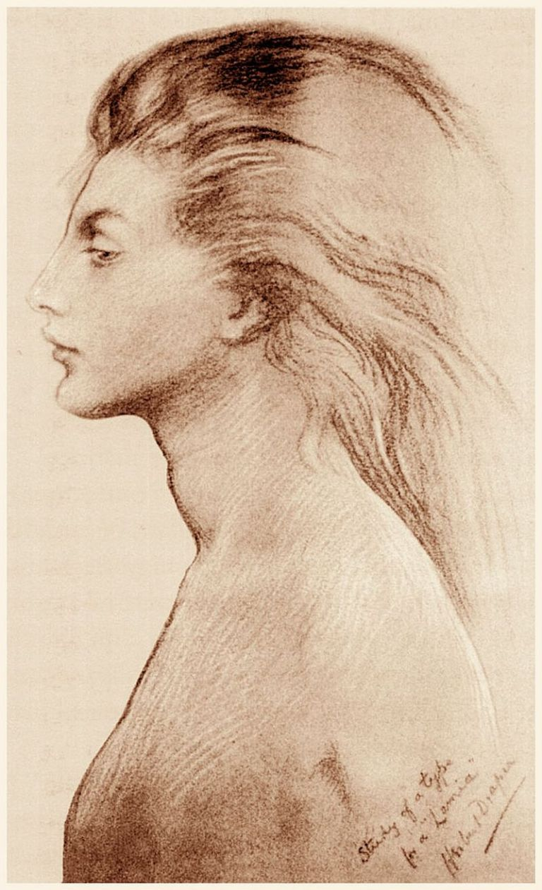 800px-Herbert_James_Draper,_Study_for_Lamia