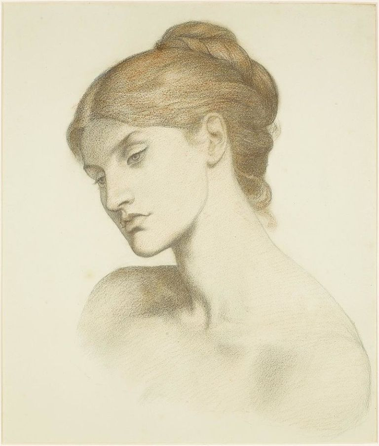 Dante_Gabriel_Rossetti_-_Lady_Lilith_-_Study_for_the_Head