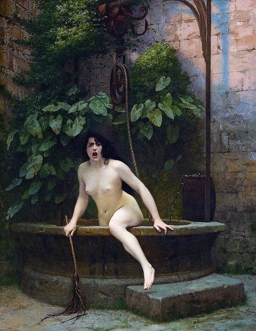 Truth_Coming_Out_of_Her_Well_to_Shame_Mankind,_1896