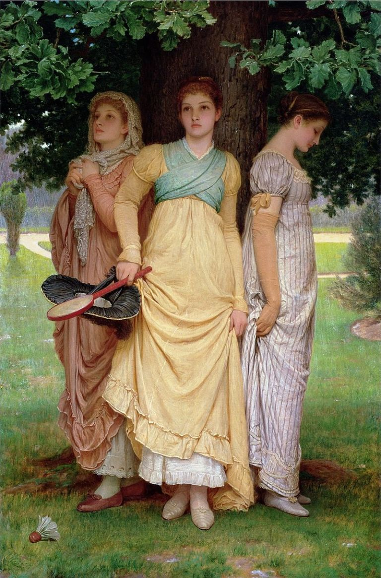 A_Summer_Shower,_by_Charles_Edward_Perugini