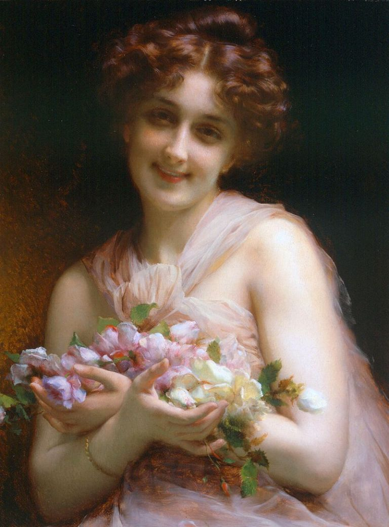 Étienne_Adolphe_Piot_-_Girl_With_Flowers