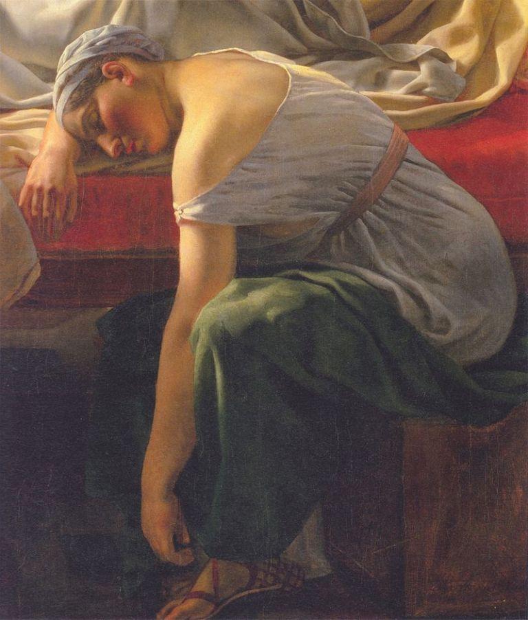 Eckersberg_En_sovende_kvinde_i_antik_dragt_1813