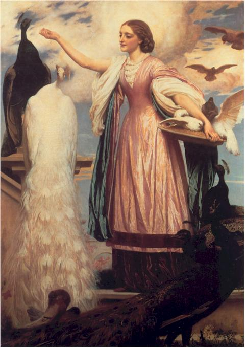 Leighton,_Frederick_-_A_Girl_Feeding_Peacocks