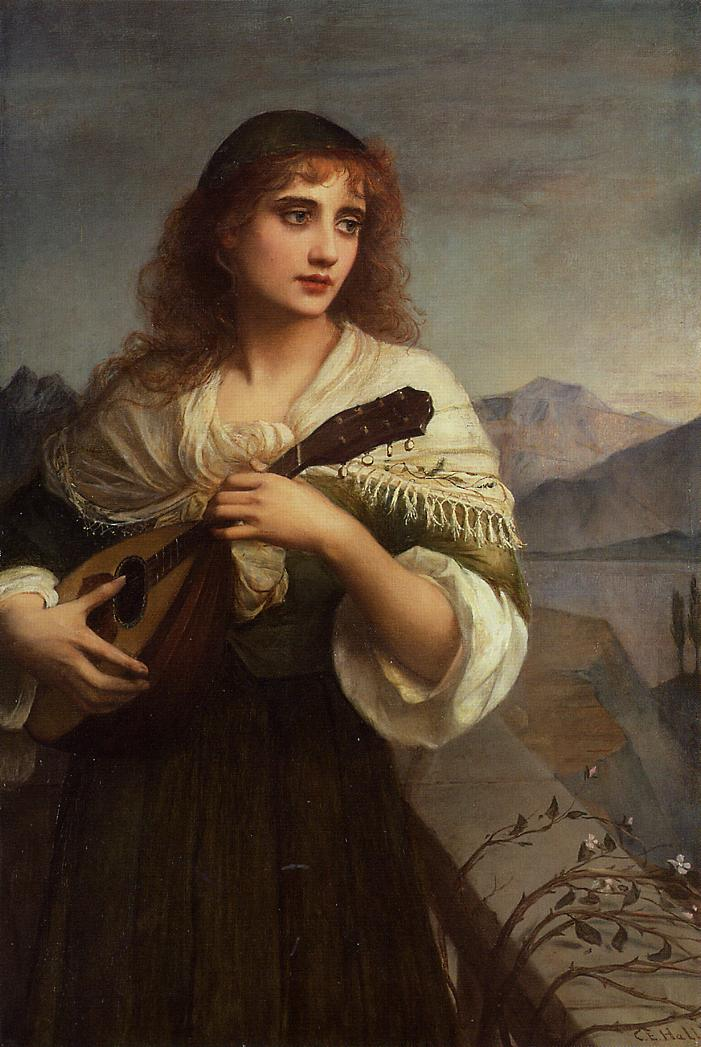 Charles_Edward_Hallé_-_Francesca_and_Her_Lute