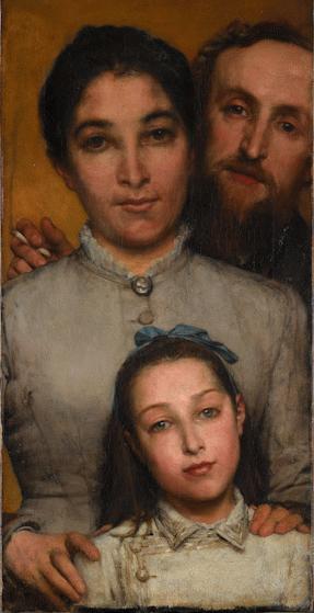Lawrence_Alma-Tadema_Dalou,_sa_femme_et_sa_fille_en_1876