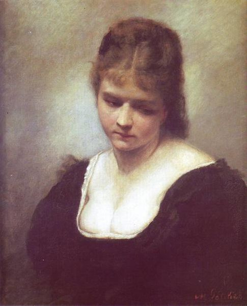 Maurycy_Gottlieb_-_Portrait_of_a_Woman_1878