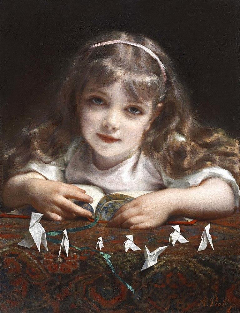 800px-Jeune_Fille_aux_oiseaux_en_origami