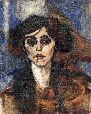 Amedeo-modigliani-XX-Portrait-of-Maude-Abrantes-1907