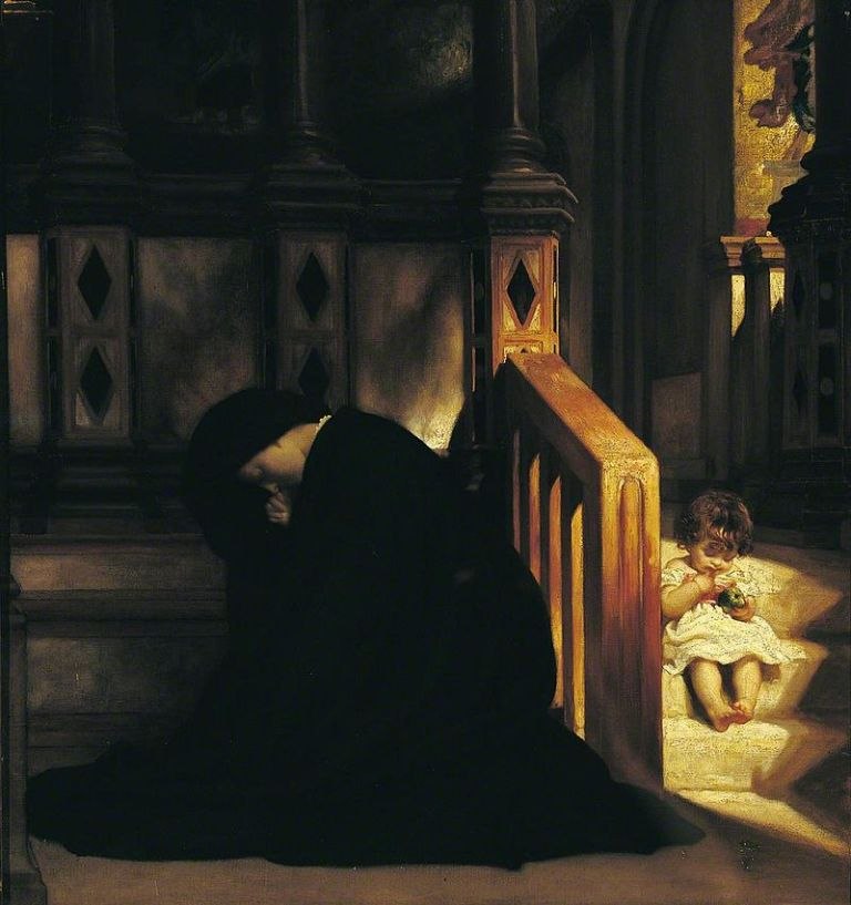 Frederic_Leighton_-_The_Widow's_Prayer