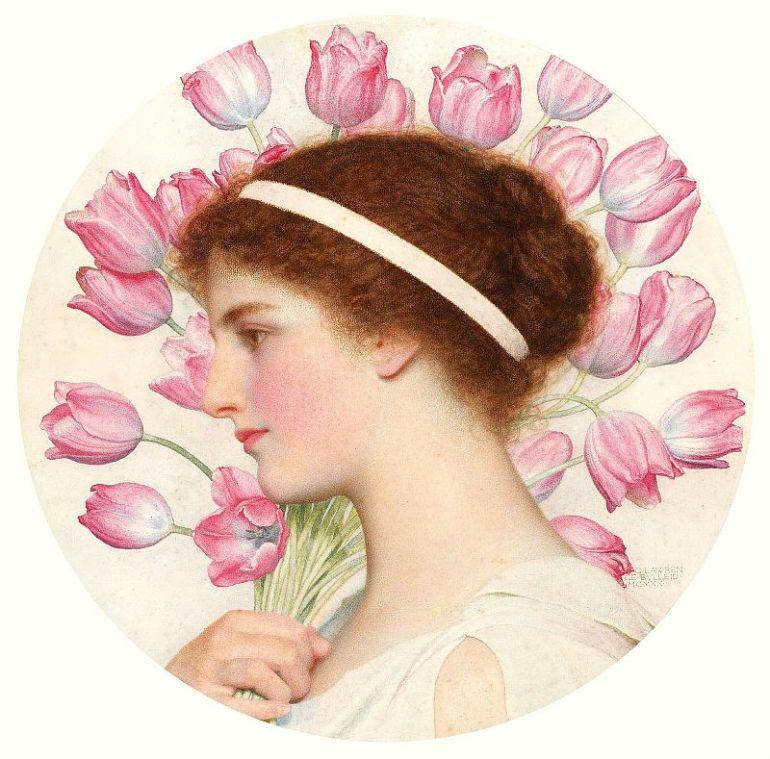 George_Lawrence_Bulleid_-_A_girl_in_classical_dress_bearing_tuli