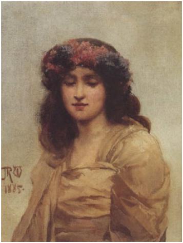 John_Reinhard_Weguelin–Contemplations_(1885)