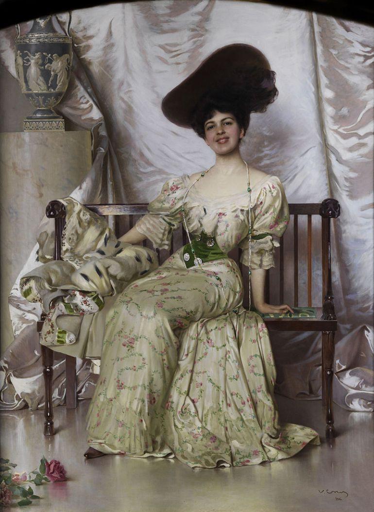 800px-Vittorio_Matteo_Corcos_Portrait_der_Contessa_Nerina_Pisani_Volpi_di_Misurata_1906