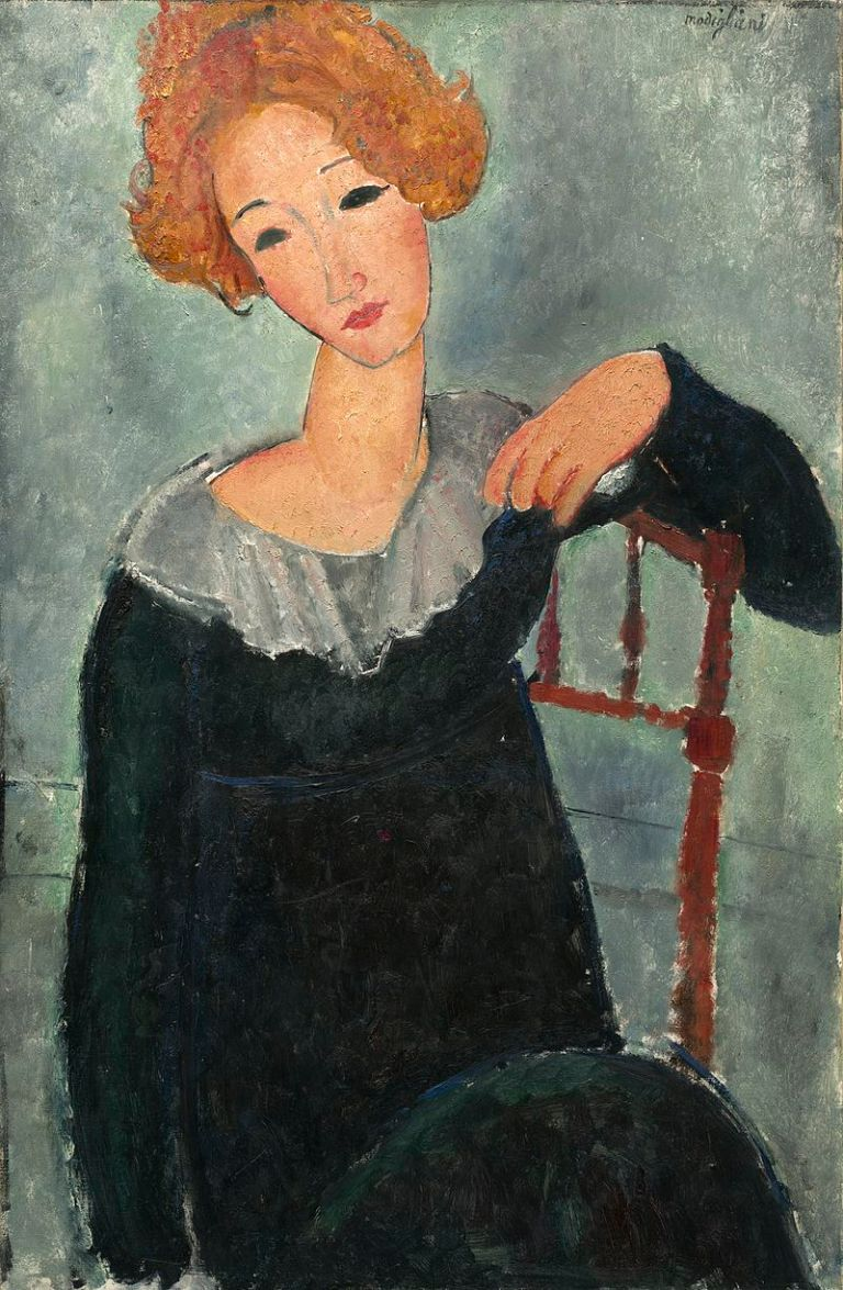 Amedeo_Modigliani_-_Woman_with_Red_Hair_(1917)