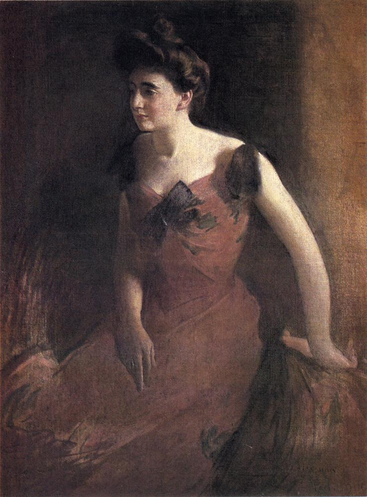 Alexander_John_White_Woman_in_a_Red_Dress