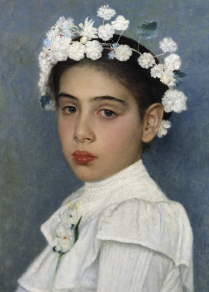 Isidor_Kaufmann_Girl_with_flowers_in_her_hair