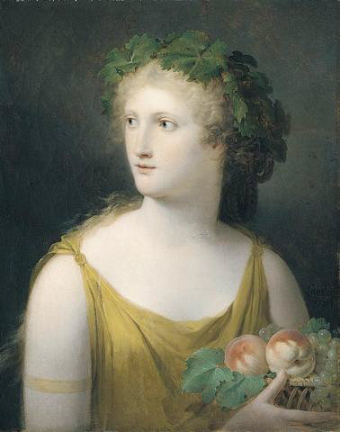 Landon_Portrait_of_a_lady_wearing_a_yellow_dress_and_holding_a_basket