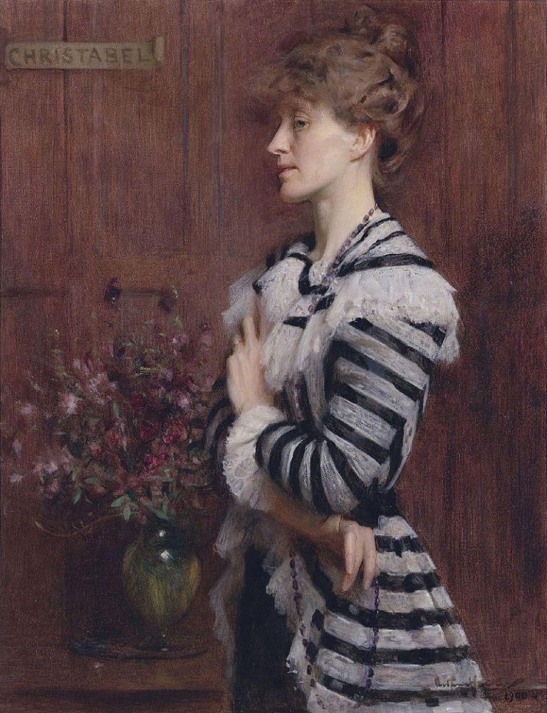 800px-Christabel_Cockerell,_lady_Frampton_by_Arthur_Hacker_(1858-1919)