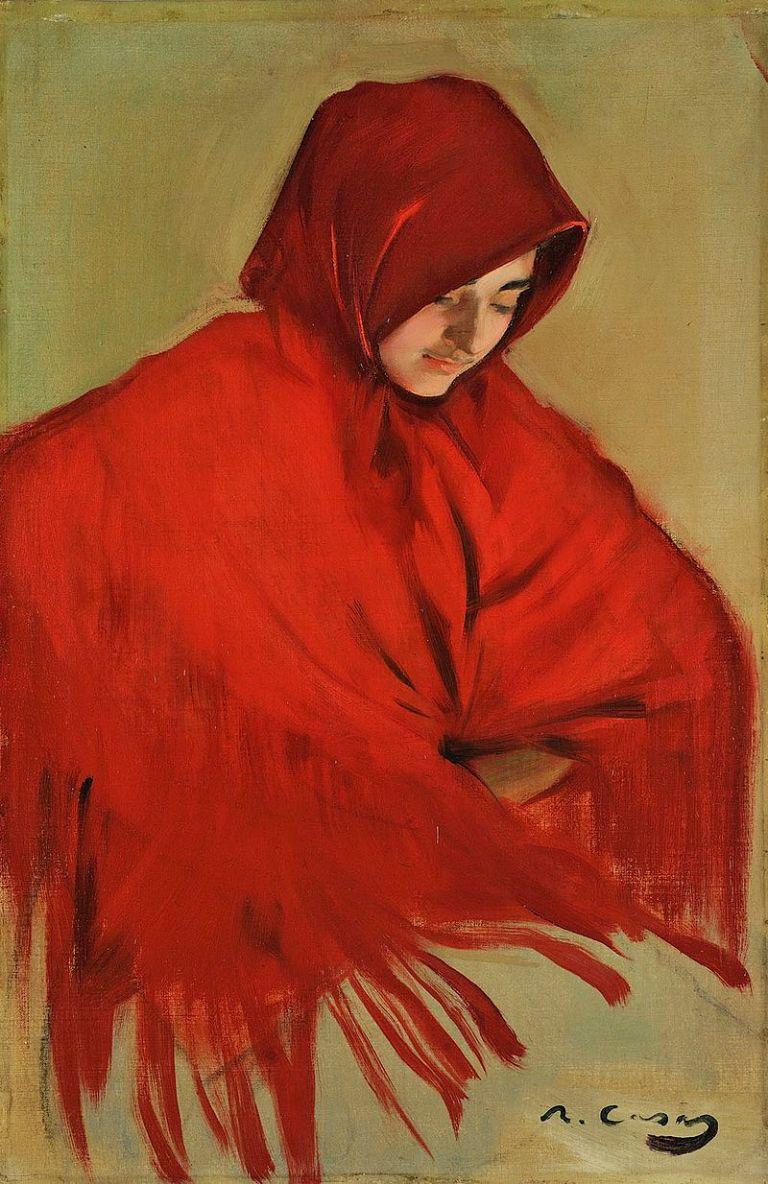 Ramon_Casas_-_Gitana_amb_mantó_vermell