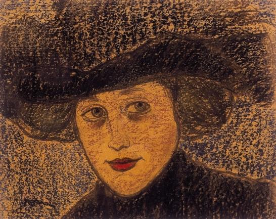Rippl_Woman_in_black_hat_c._1910