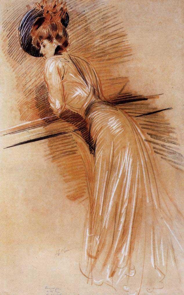 Helleu_-_Elegant_Woman_at_the_Rail