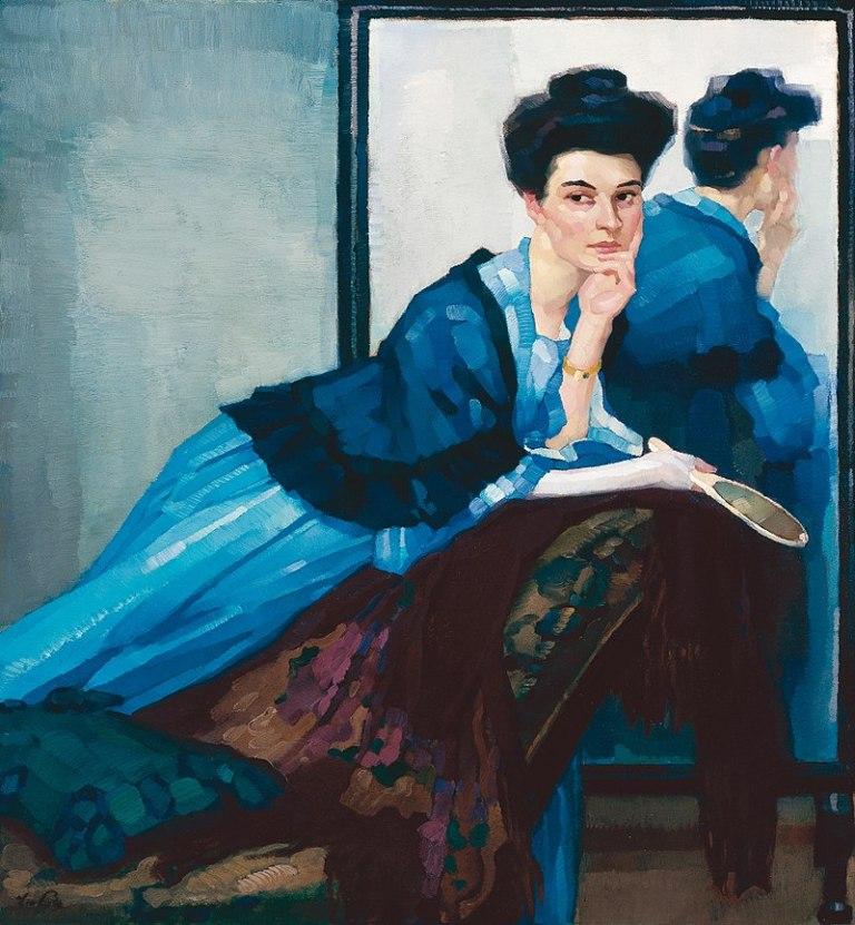 800px-Leo_Putz_-_Dame_in_Blau,_1908