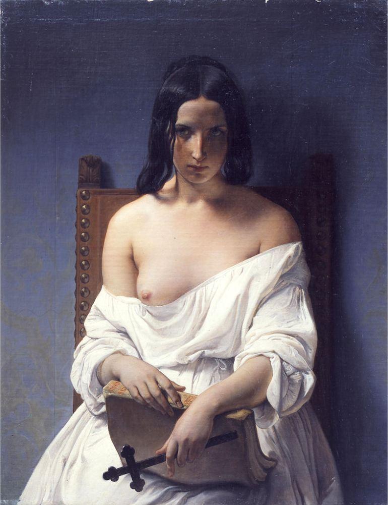 Hayez_Meditazione_Italia_1848