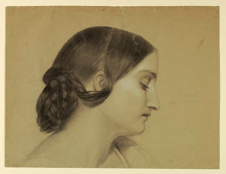 1024px-Drawing,_Profile_of_a_Woman_with_a_Braided_Knot,_ca._1845_(CH_18565737)
