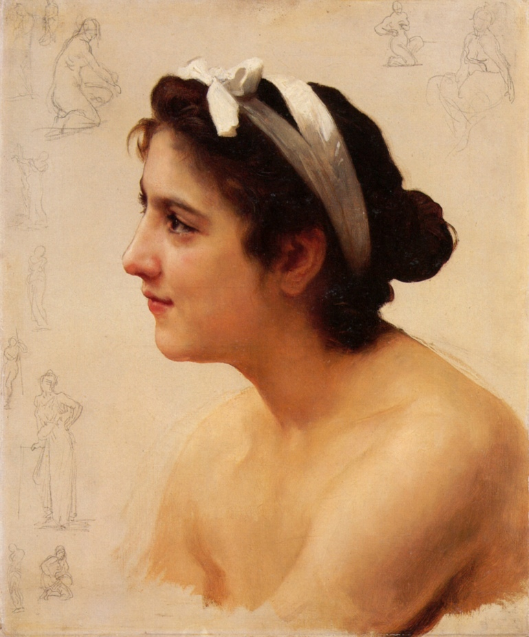 William-Adolphe_Bouguereau_(1825-1905)_-_Study_Of_A_Woman_For_Offering_To_Love_(Unknown)