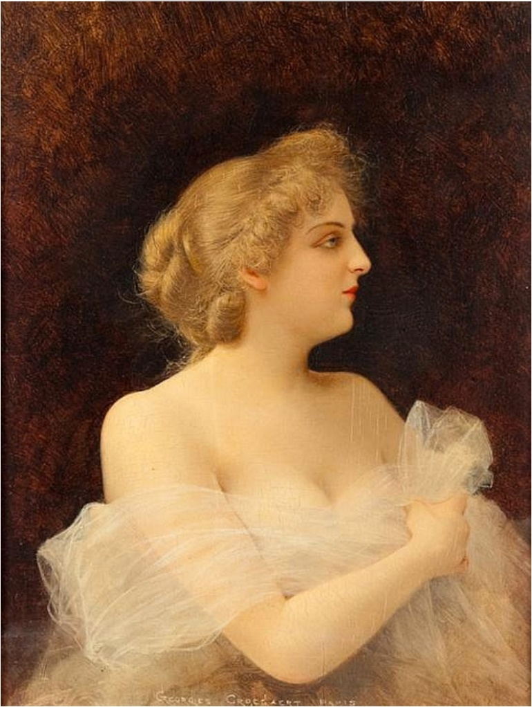 Georges_Croegaert_-_Portrait_of_a_Woman_with_Diaphanous_Gown