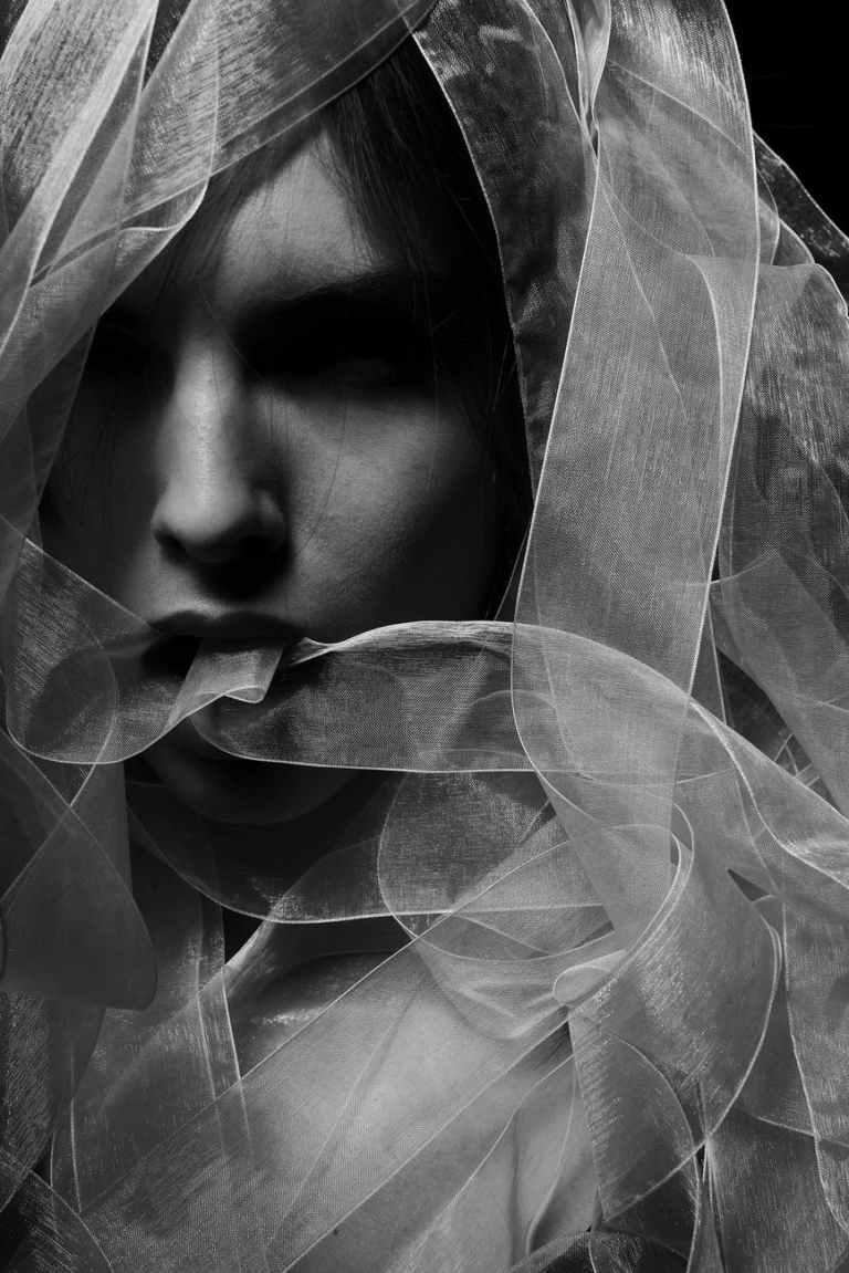 black and white blur costume dark