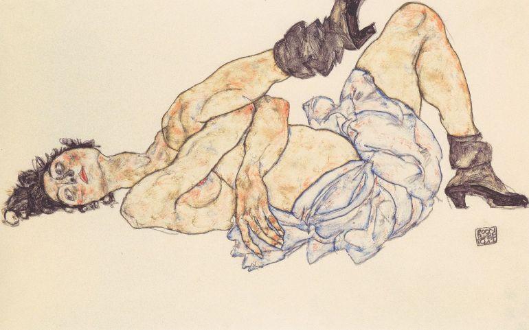 1280px-Egon_Schiele_-_Liegender_weiblicher_Akt_-_1917