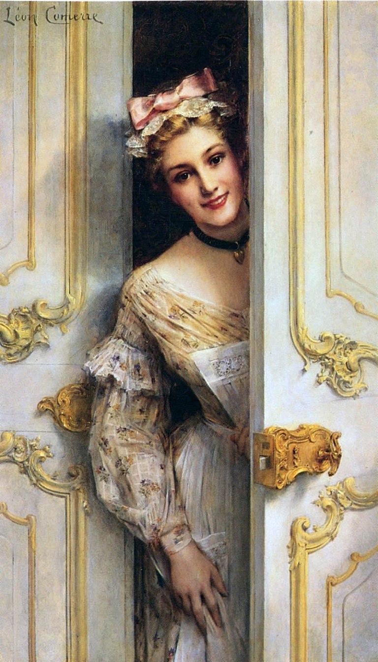 800px-Comerre,_Leon_Francois;_The_Pretty_Maid