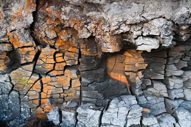 broken clay close up crack